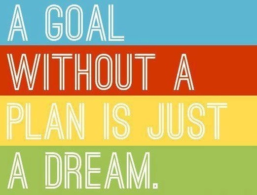 A goal without a plan is just a dream.